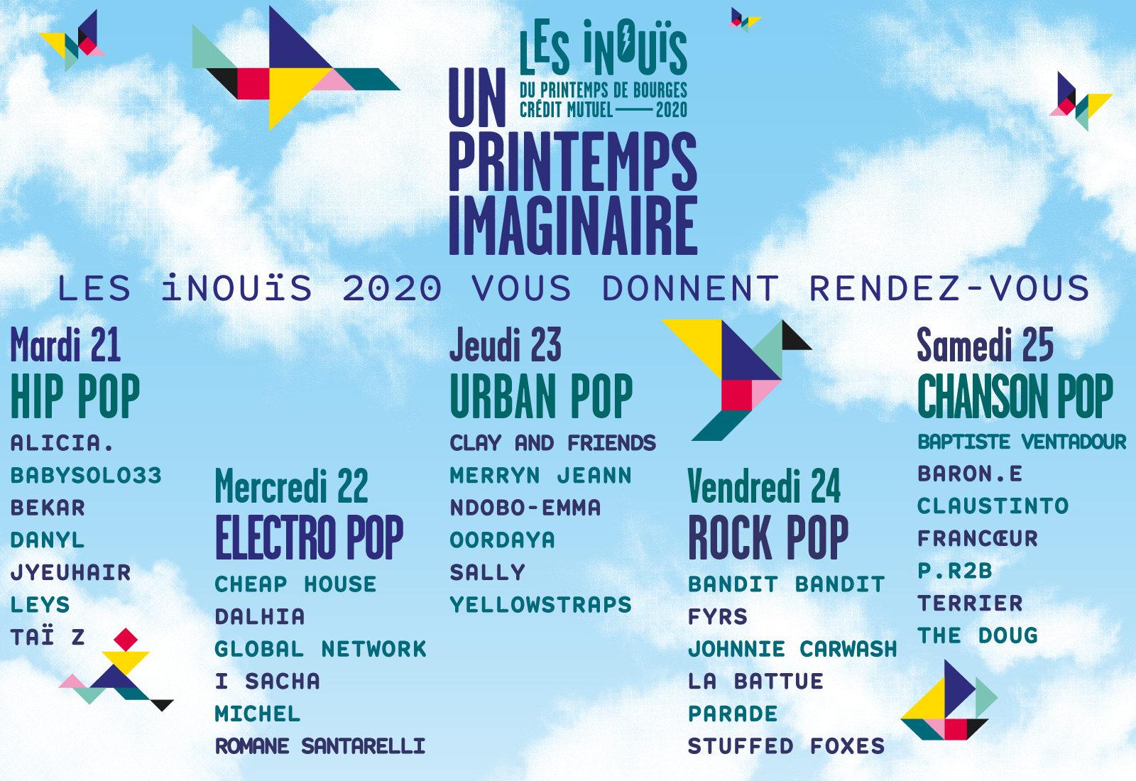 Découvrez les iNOUïS 2020 au Printemps Imaginaire du 21 au 26 avril 2020 !
