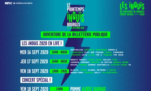 LE PRINTEMPS iNOUïS : OUVERTURE DE LA BILLETTERIE PUBLIQUE !